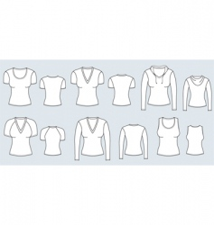 t-shirts women vector image