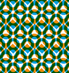 Colorful seamless pattern with green and orange vector image