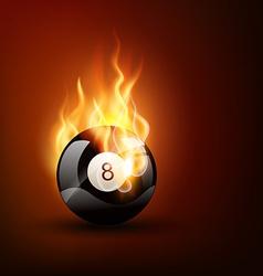 pool game ball vector image
