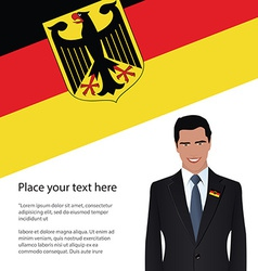 Man wearing suit germany flag vector