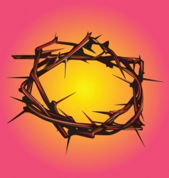crown of thorns vector image