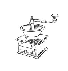 Doodle coffee mill vector