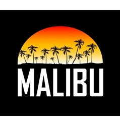 Malibu surf sport typography t-shirt graphics vector