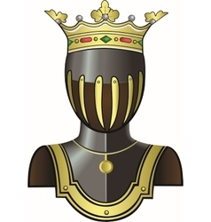 Medieval knight head in helmet vector