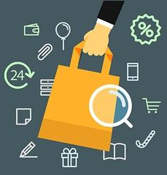 Media shopping concept vector image