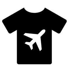 T-shirt flat icon vector
