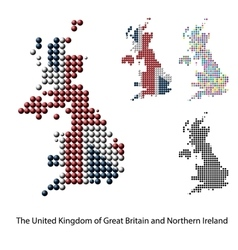 Uk great britain map color dotted design vector