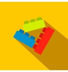 Building bricks flat icon vector image