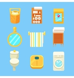 Bathroom objects set vector