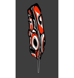 Native american feather vector