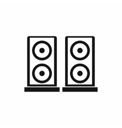 Music speakers icon simple style vector