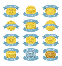 Award medals or badges vector