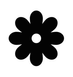 Black flower symbol vector