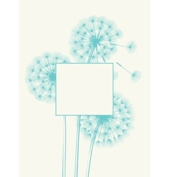 Blow dandelion concept vector