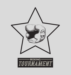 Boxing design tournament icon white background vector
