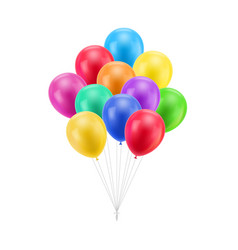 bundle colored balloons isolated vector image vector image
