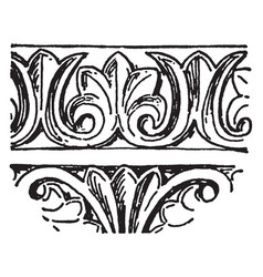 Byzantine band is a acanthus leaf band vintage vector