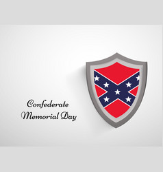 confederate memorial day vector image vector image