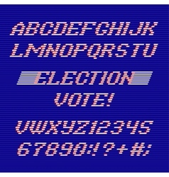 Election day font and numbers vector image