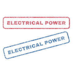 electrical power textile stamps vector image vector image