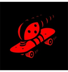 Fast beetle vector image vector image