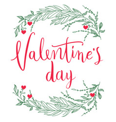 february 14th valentines day vintage lettering vector image