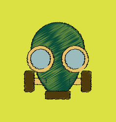 Flat shading style icon gas mask vector