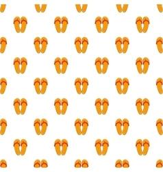 Flips flops pattern cartoon style vector image