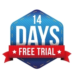 Fourteen days free trial vector image