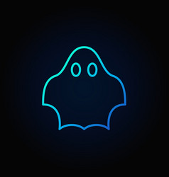 ghost blue icon vector image vector image