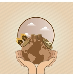 Global warming design Environment iconecology vector image