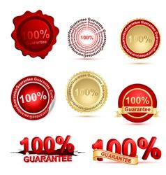 guarantee tags vector image