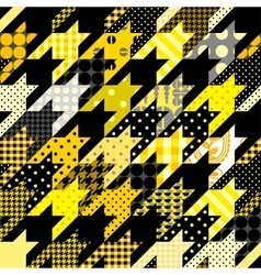 Hounds-tooth geometric pattern of patchworks vector image vector image