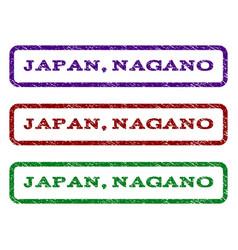 japan nagano watermark stamp vector image