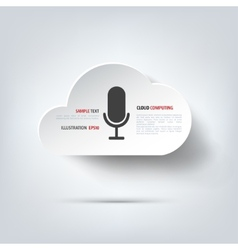 Microphone icon voice recording vector