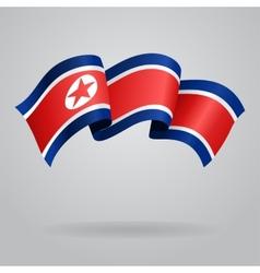 North Korean waving Flag vector image vector image