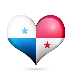 Panama Heart flag icon vector image