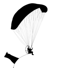 Paragliding silhouette vector