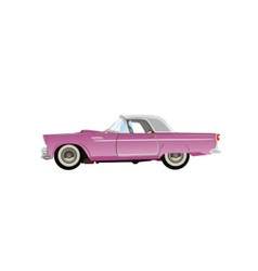 pink classic auto vector image vector image