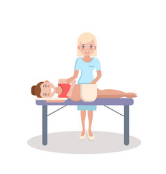 Pregnant massage and health care vector