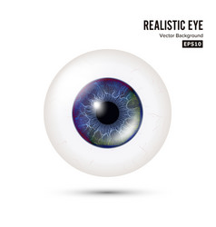realistic human eyeball 3d glossy photorealistic vector image