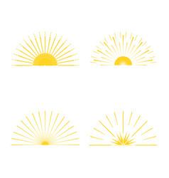 retro sun burst minimal vintage firework burst vector image vector image