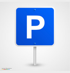 Road parking sign vector