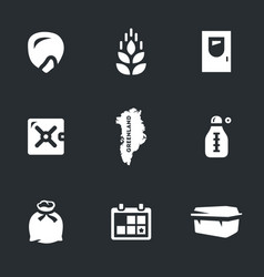 set of arctic seed storage icons vector image vector image