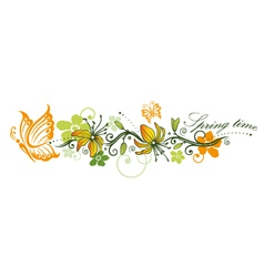 Spring time flowers vector image vector image