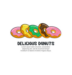 template logo for delicious donuts vector image vector image