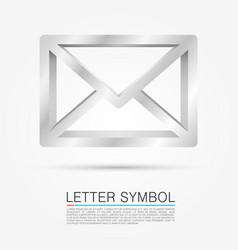 volume letter symbol vector image vector image
