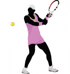 woman tennis vector image vector image