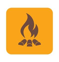 Campfire silhouette vector
