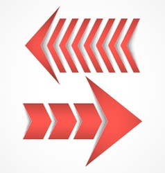 Two red arrows concept designs vector image